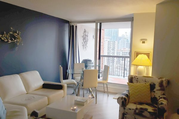 2 br 2 bath in award-winning bldg with great view